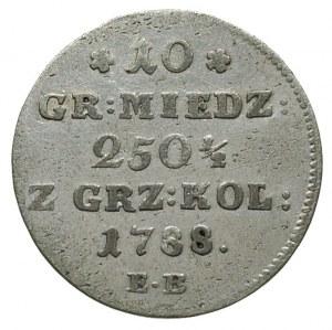 10 groszy miedzianych 1788, Warszawa, odmiana z kropką ...