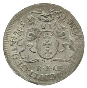 szóstak 1765, Gdańsk, Plage 503, jak na ten typ monety ...