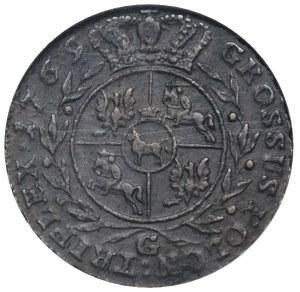 trojak 1769, Warszawa, Plage 229, moneta w pudełku GCN ...