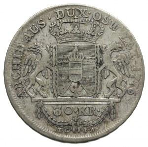 30 krajcarów 1776, Wiedeń, Plage 9, patyna