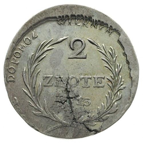 2 złote 1813, Zamość, Plage 125, wada blachy, ale dość ...