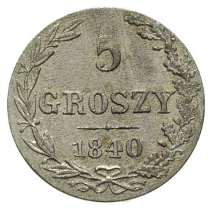 5 groszy 1840, Warszawa, odmiana bez kropek, Plage 141,...