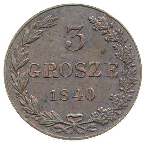 3 grosze 1840, Warszawa, Plage 192, Iger KK.40.1.a, wyś...