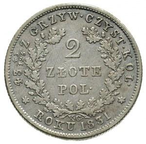 2 złote 1831, Warszawa, Plage 273, porysowane tło