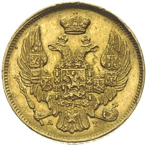 3 ruble = 20 złotych 1840, Petersburg, złoto 3.98 g, Pl...