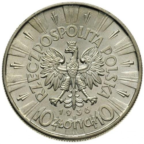 10 złotych 1936, Warszawa, Józef. Piłsudski, Parchimowi...