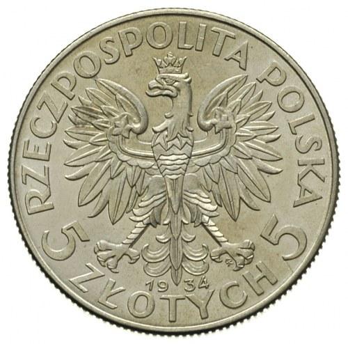 5 złotych 1934, Warszawa, Glowa Kobiety, Parchimowicz 1...