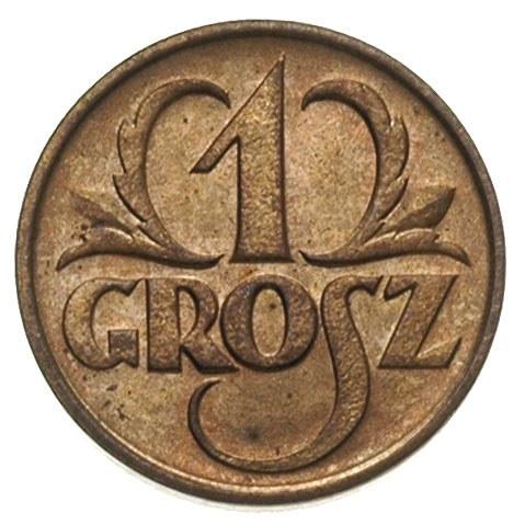 1 grosz 1925, Warszawa, Parchimowicz 101.b, wyśnienity ...
