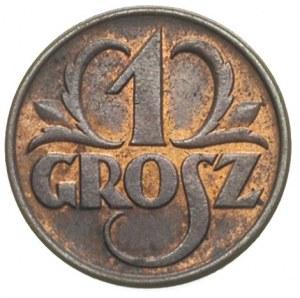 1 grosz 1937, 1938 i 1939, Warszawa, Parchimowicz 101.l...