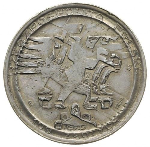 100 złotych 1925, Mikołaj Kopernik, srebro 18.91 g, Par...