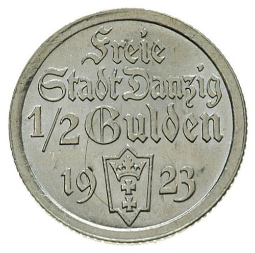 1/2 guldena 1923, Utrecht, Koga, Parchimowicz 59.a, wyś...