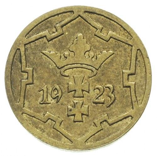 5 fenigów 1923, Berlin, mosiądz 1.98 g, Parchimowicz -,...