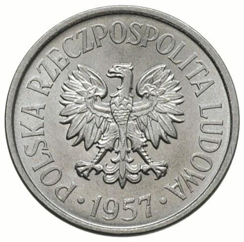 20 groszy 1957, Warszawa, odmiana z mniejszymi cyframi ...