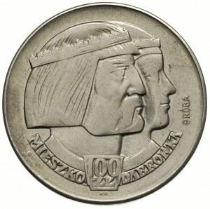 100 złotych 1960, Mieszko i Dąbrówka -głowy, na rewersi...