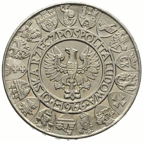 100 złotych 1966, Warszawa, Mieszko i Dąbrówka -półpost...