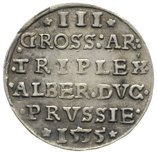 trojak 1535, Królewiec, Iger PR.35.1.b, Bahr. 1150, Neu...