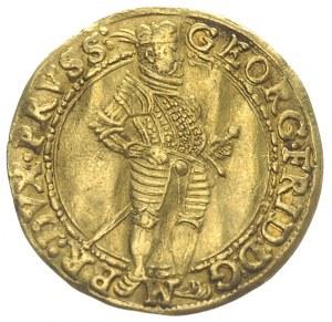 dukat 1587, Królewiec, Aw: Półpostać i napis, Rw: Orzeł...