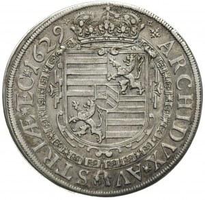 talar 1629, Kłodzko, Aw: Popiersie w prawo, poniżej lit...