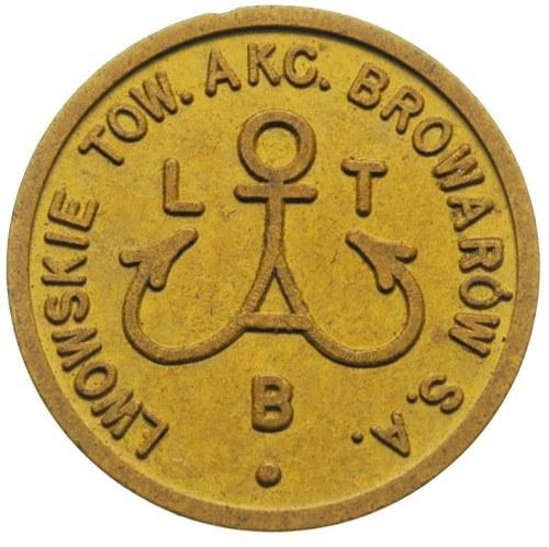 Lwowskie Towarzystwo Akcyjne Browarów  S.A. - 1 złoty w...