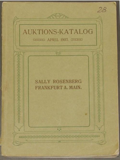 Sally Rosenberg - Auktions-Katalog, Sammlung des Herrn ...