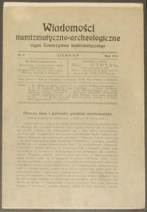 Wiadomości Numizmatyczno - Archeologiczne, rok 1914, ze...