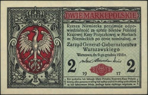 2 marki polskie 9.12.1916, \Generał, seria A