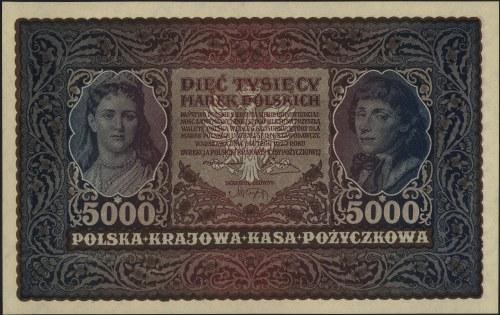 5.000 marek polskich 7.02.1920, II seria AN, Miłczak 31...