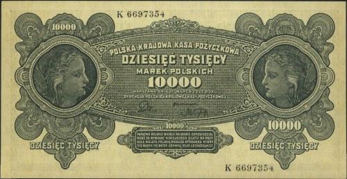 10.000 marek polskich 11.03.1922, seria K, Miłczak 32, ...