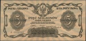 5.000.000 marek polskich 20.11.1923, seria A, Miłczak 3...