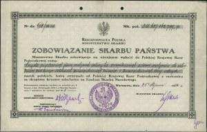 zobowiązanie Skarbu Państwa nr 5 z 25.01.1924 r. na kwo...