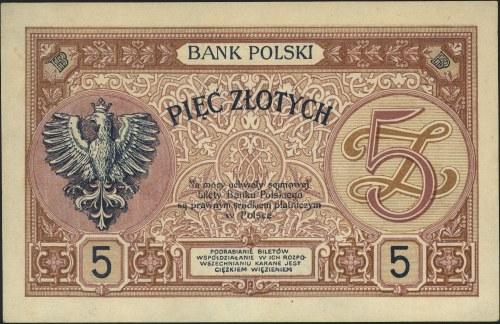 5 złotych 28.02.1919, seria S.12.B 065978, Miłczak 49b,...