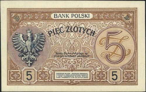 5 złotych 15.07.1924, II Emisja D, Miłczak 57 (reproduk...