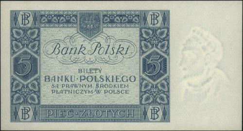 5 złotych 2.01.1930, seria D, Miłczak 71a, Lucow 658 (R...