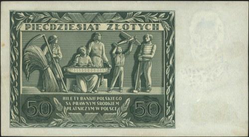 50 złotych 11.11.1936, seria AM 1201372, Miłczak 77a, L...