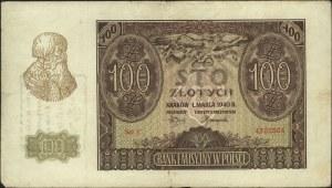 100 złotych 1.03.1940, seria C, z nadrukiem \A.-K. / Re...