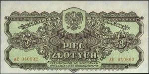 5 złotych 1944, \obowiązkowym, seria AE