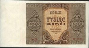 1.000 złotych 1945, seria Dh, Miłczak 120b, po lekkiej ...