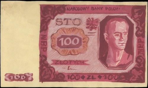 FALSYFIKAT!!  projekt wstępny banknotu 100 złotych 1.07...