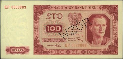 100 złotych 1.07.1948, perforacja WZÓR, seria KP 000000...