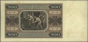 500 złotych 1.07.1948, seria C, Miłczak 140a, bez konse...