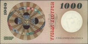 1.000 złotych 24.05.1962, seria A 0000000, Miłczak 141A...