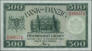 500 guldenów 10.02.1924, seria E, Miłczak G45, Ros. 836...