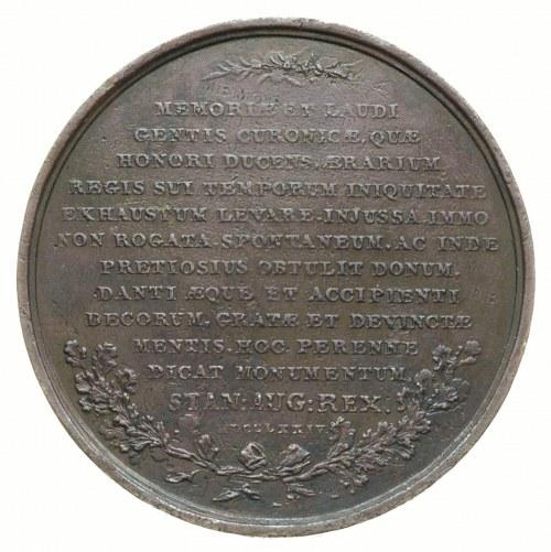 Dar Kurlandii dla Rzeczypospolitej -medal autorstwa J. ...