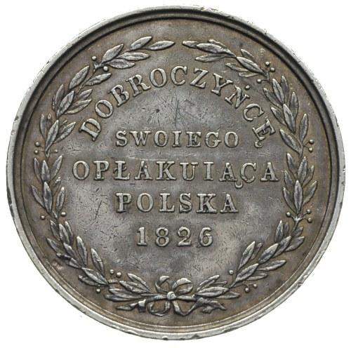 Aleksander I  medal 1826 r, Aw: Popiersie cara w prawo ...