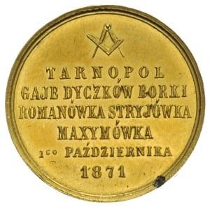 medal na otwarcie linii kolejowej z Tarnopola do Maxymó...