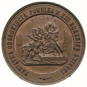 Artur Grottger -medal wybity w 1880 r nakładem M. Kurna...