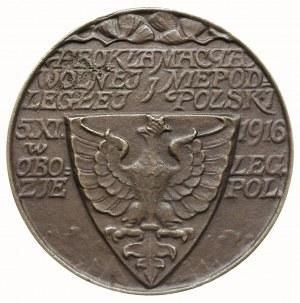Ogłoszenie Niepodległości Polski - medal sygn. J.Raszka...