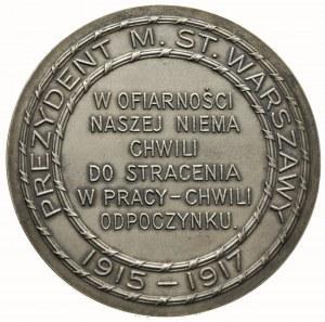 książę Zdzisław Lubomirski prezydent Warszawy -medal au...