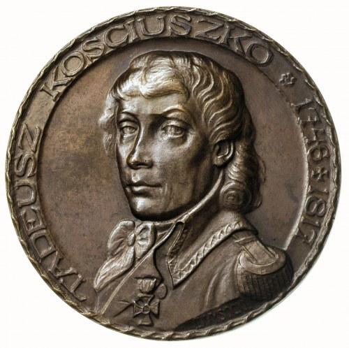 Tadeusz Kościuszko -medal autorstwa Jana Wysockiego wyb...