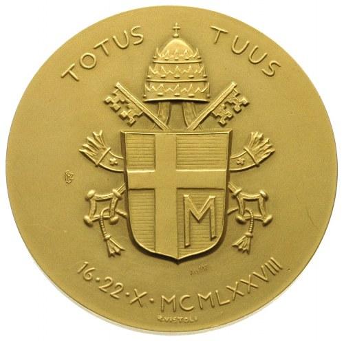 medal sygn. R. VISTOLI na inaugurację pontyfikatu Jana ...